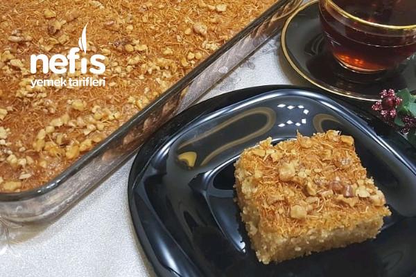 Kadayıflı Şerbetli Kek Tarifi (videolu)