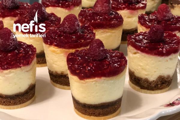 Mini frambuazli cheesecake