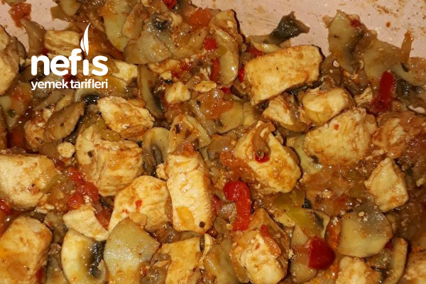 Sebzeli ve Mantarlı Tavuk Sote Tarifi