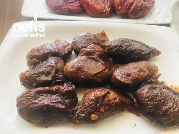 Kuru Patlıcan Ve Biber Dolması (Acılı Ekşili) Parmak Yedirten Lezzet