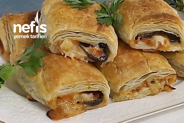 Patlıcanlı Milföy Börek Tarifi