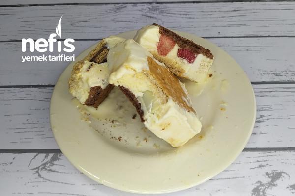 Dondurma Sandviç Nasıl Yapılır? Ice Cream Sandwiches (Videolu)