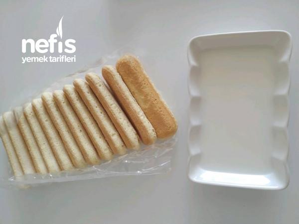 Pratik Üç Malzemeli Kedi Dili Pasta