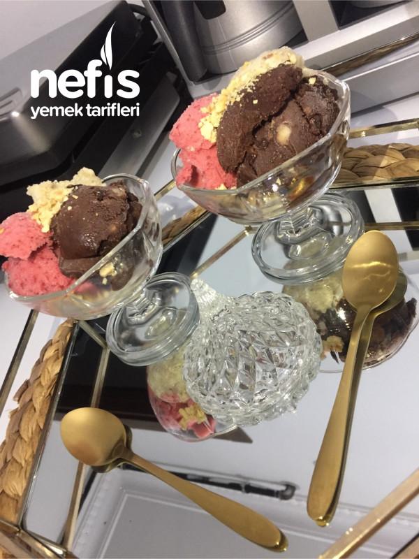 Fit Dondurma (Çikolata, Çilek Ve H.cevizi)