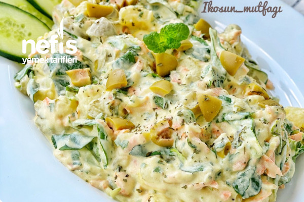 Özel Soslu Patates/Semizotu Salatası Tarifi