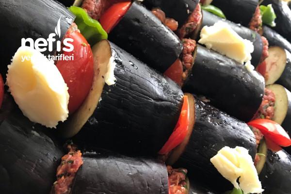 Fırında Enfes Pratik Patlıcan Kebabı(patlıcanlı)