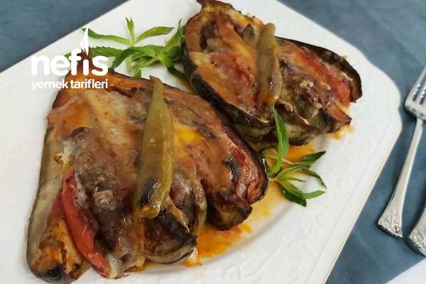 Kaşar Peynirli Yelpaze Patlıcan Kebabı Tarifi