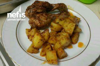 Mangal Tadında Tavuklu Patates Tarifi