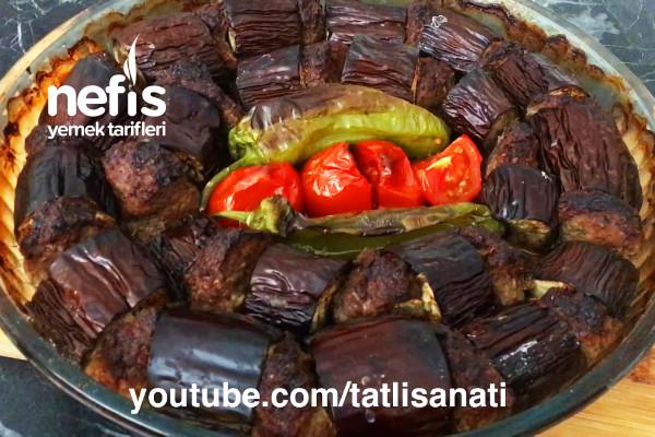 Fırında Patlıcan Kebabı   Tüm Püf Noktalarıyla Antep Usulü Patlıcan Kebap Tarifi (Videolu)