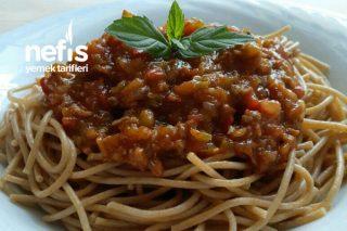 Kıymalı Domates Soslu Tam Buğday Spagetti (Diyet Makarna) Tarifi