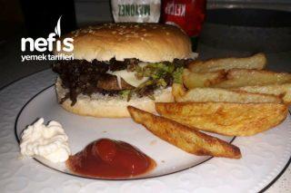 Nefis Hamburger Menü (Elma Dilim Patates İle) Tarifi