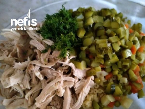 Sebzeli Tavuk Salatasi