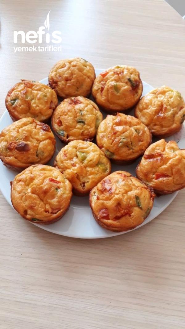 Tuzlu Muffin (Kahvaltıya, Beş Çaylarına)