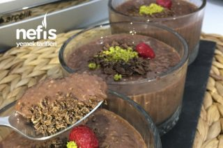 Fit Çikolatalı Puding (Chia Tohumlu) Tarifi