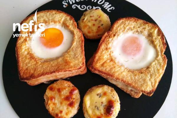 Pratik Kahvaltılık Yumurtalı Ekmek Tarifi