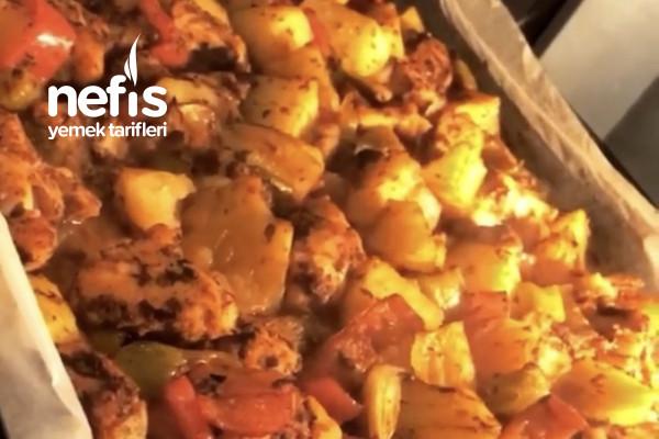 Fırında Tavuklu Sebze Yemeği Tarifi