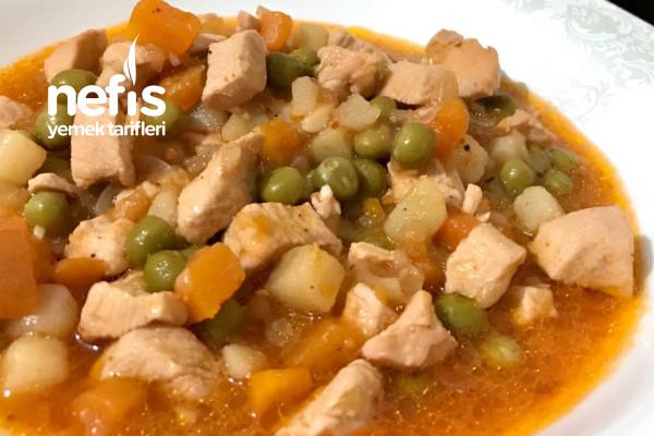 Garnitürlü Tavuk Yemeği Tarifi