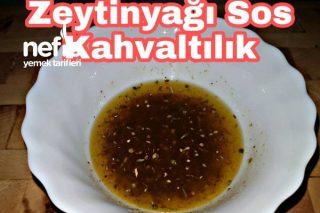Kahvaltılık Zeytinyağı Sosu (videolu) Tarifi
