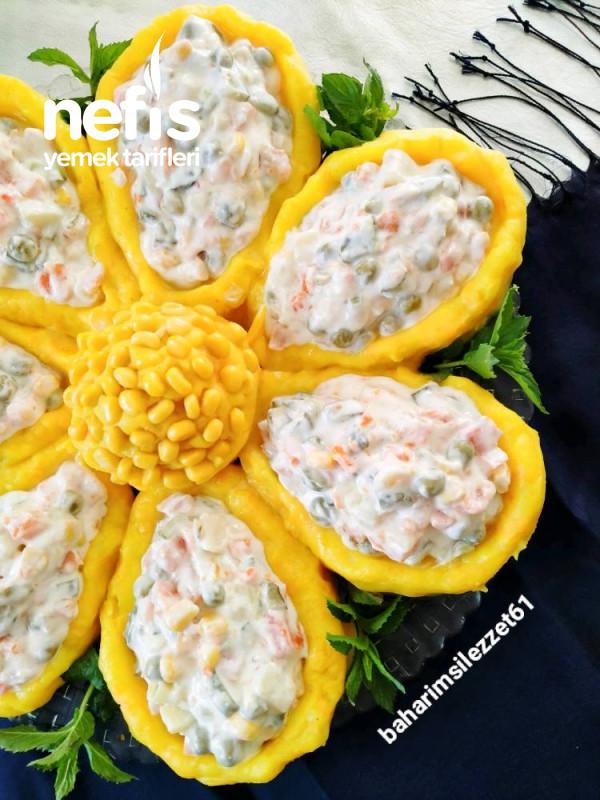 Papatya Salatası masanızda Görsel Şölen