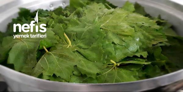 Cam Kavanozda Kışlık Yaprak (Bulaşık Makinasında)