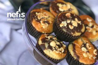 Çikolata Parçalı Fındıklı Mozaik Muffin Tarifi