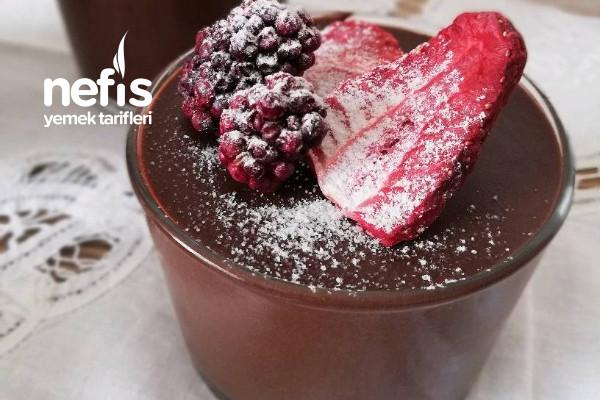 Çikolatalı Mus (Yumurtasız Ve Yalnızca 2 Malzemeli) Tarifi