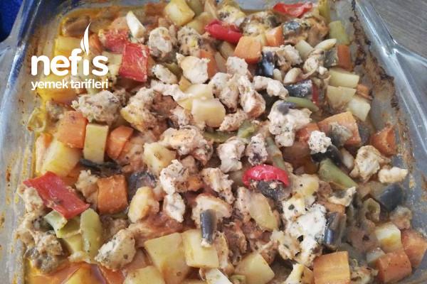 Fırında Sebzeli Tavuk Sote Yemeği Tarifi