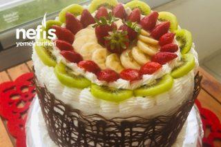 5 Katlı Meyveli Yaş Pasta Tarifi