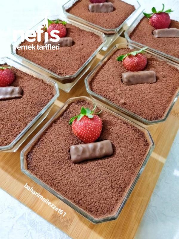 Çikolata Soslu Muhallebi lezzet Bombası Kat Kat Lezzet