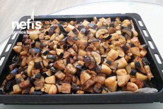 Fırında Fit Patlıcan Patates Tarifi