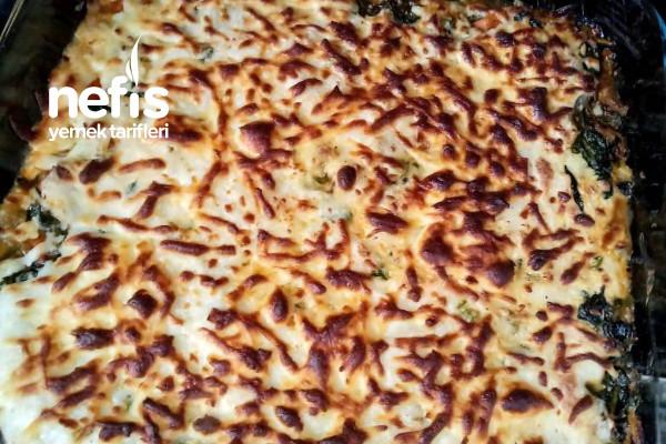 Fırında Beşamel Soslu Ispanak (Çocuklar Artık Ispanak Yiyecek) Tarifi