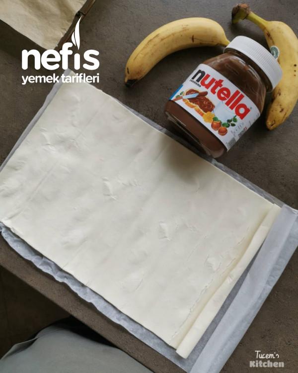 Nutella-Muz-Milföy Çelenk