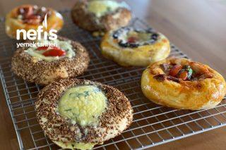 Mini Kahvaltılık Simit Pizza (Videolu) Tarifi