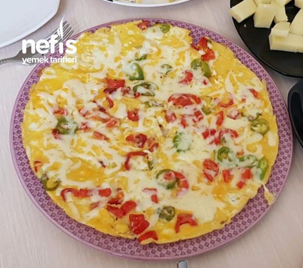 Peynirli Biberli Omlet