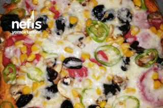 Bol Malzemelim Büyük Boy Pizza Tarifi