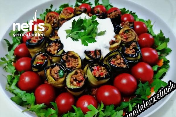Domatesli Patlıcan Sarma Tarifi