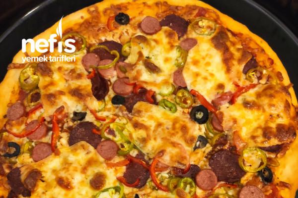 İncemi İnce Hamurlu Pizza Tarifi