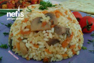 Özbek Pilavı Tadında Mantarlı Pirinç Pilavı Tarifi