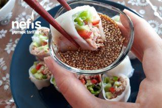 Thai Spring Roll (Ton Balıklı Pirinç Yaprağı) Tarifi