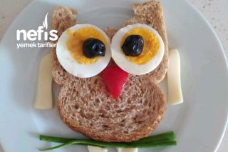 Çocuklarımız İçin Eğlenceli Kahvaltı Baykuş Amca Tarifi
