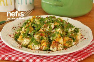 Kısa Sürede Hazırlayabileceğiniz - Yumurta Salatası Tarifi (videolu)