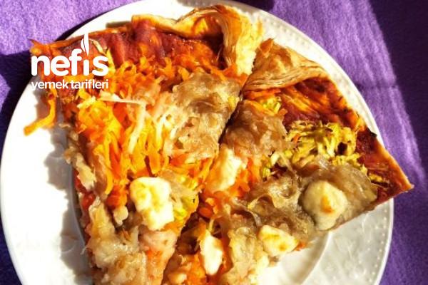 Milföyden Sebzeli Pizza Tarifi