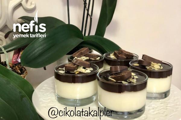 Çikolata Soslu Damla Sakızlı Muhallebi Tarifi