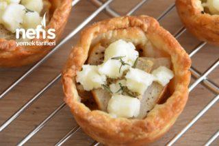 Karamelize Soğanlı Milföy Çanakları Tarifi