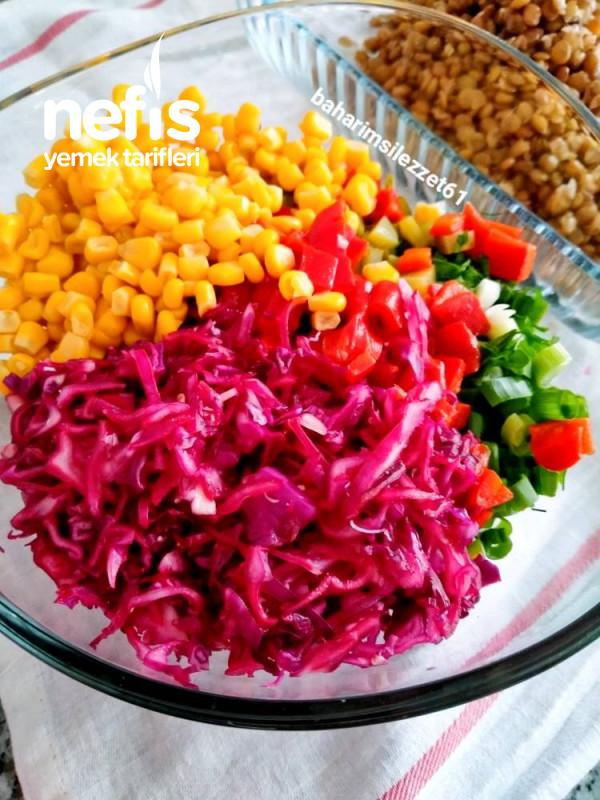 Yeşil Mercimek Salatası doyurucu Lezzet