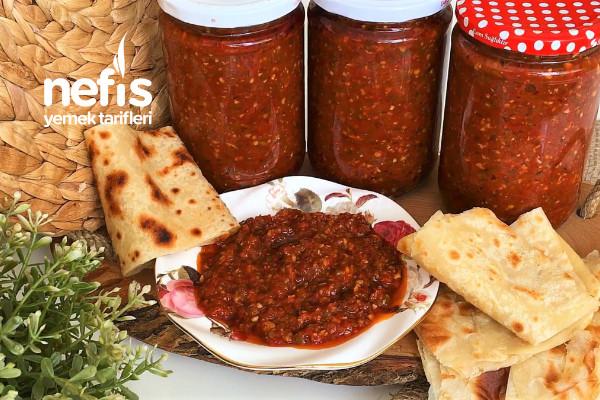 En Lezzetli Kahvaltılık Sos Tarifi | Kışlık Kahvaltılık Ezme | Acuka- Acıka Tarifi(Videolu)
