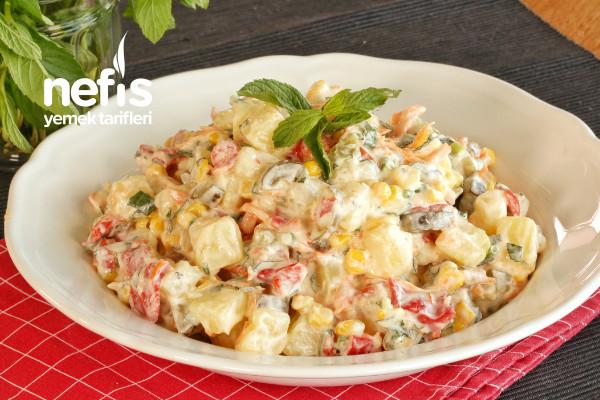 Közlenmiş Biberli Patates Salatası Tarifi