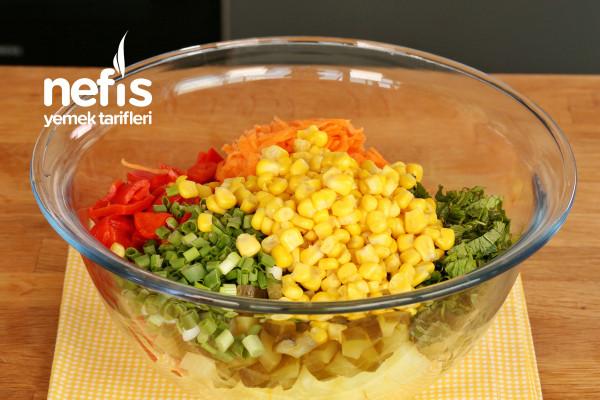 Közlenmiş Biberli Patates Salatası
