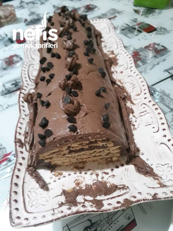 Yaş Pasta Görünümlü Mozaik Pasta