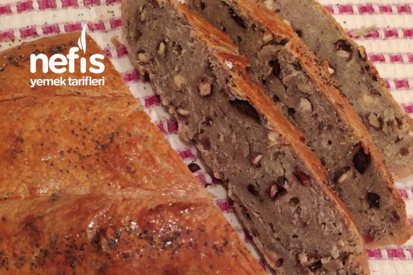 Zeytinli Cevizli Ekşi Mayalı Ekmek (Enfes Lezzet)